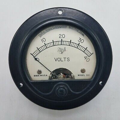 Vintage Dejur Apl Model 310 - 0-40 Volts Voltage Panel Meter Guage 3 14 D