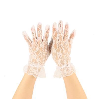 Tea Party Gloves Bridal White (Adult Tea Party)