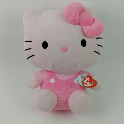 "Pink Hello Kitty Large Plush Stuffed Animal Sanrio Ty Beanie Buddy 12""  Tags V2"