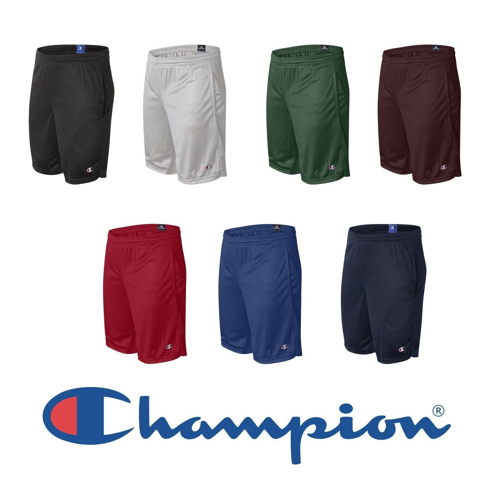 """8 COLORS S-2XL Champion Men/'s Core Training Shorts with Pockets 10/"""" Inseam"""