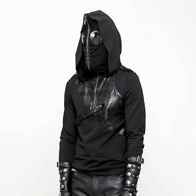 PUNK RAVE Gothic Hoodie Sweat Shirt m. Maske Puck The Fly Streetfighter Kapuze Maske Sweatshirt Hoodie