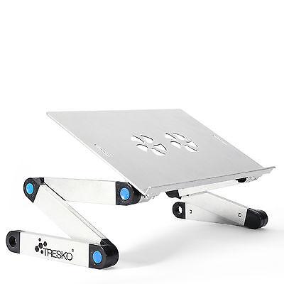 TRESKO® klappbarer Notebooktisch Silber Laptopständer Beamertisch DJ Halterung