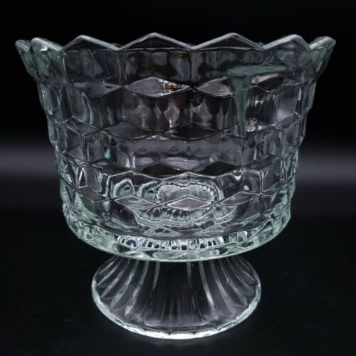 COLONY Whitehall Clear Footed Compote