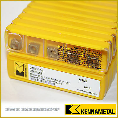 CCMT 32.51 LF 3251 KC9125 KENNAMETAL *** 10 INSERTS *** FACTORY PACK ***