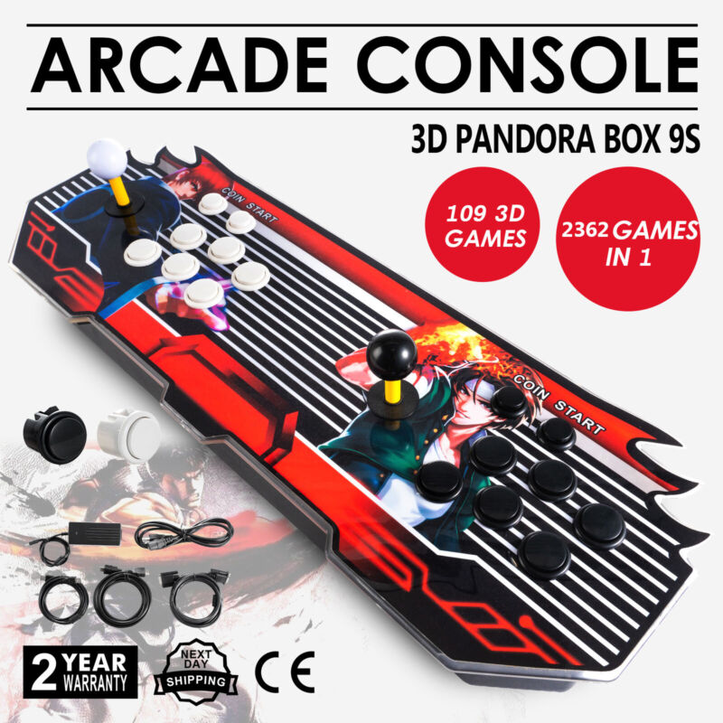Pandora Box 2362 3D & 2D Games in 1 Home Arcade Console 1080P HDMI USA NEW