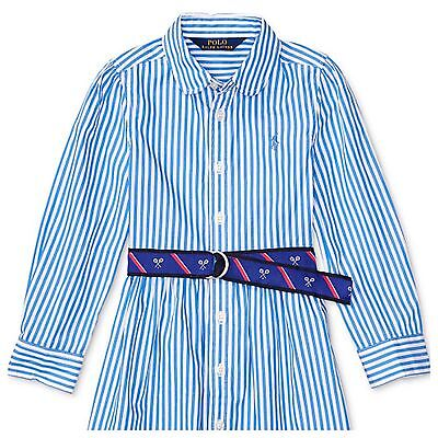 Brand New- Ralph Lauren Striped Fit Flare Shirt Dress (Girls Size  5)