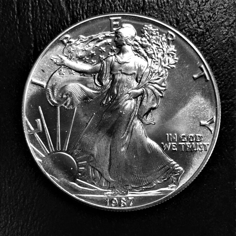 1987 1 oz .999 Fine Silver $1 American Eagle BU Uncirculated