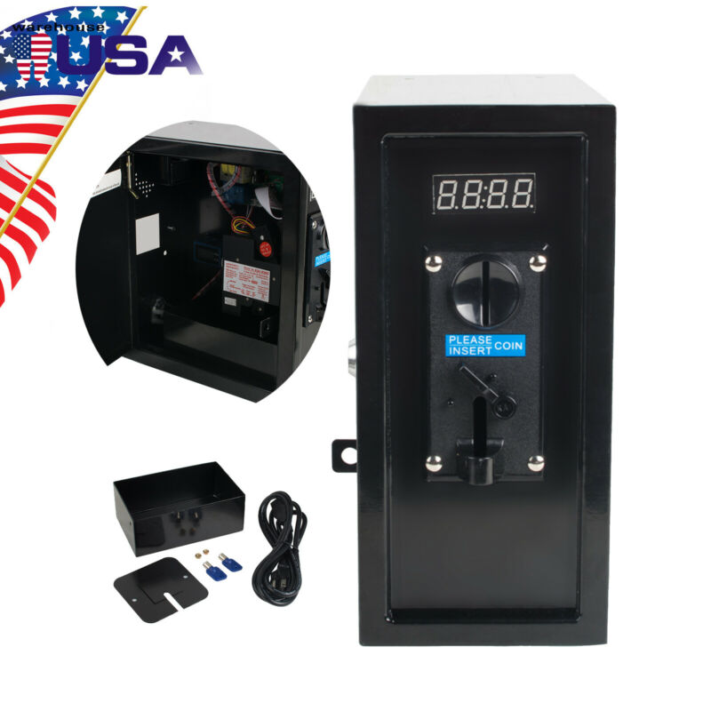 U Coin Operated Timer Control Case Multi Coin Selector Acceptor Power Supply CE