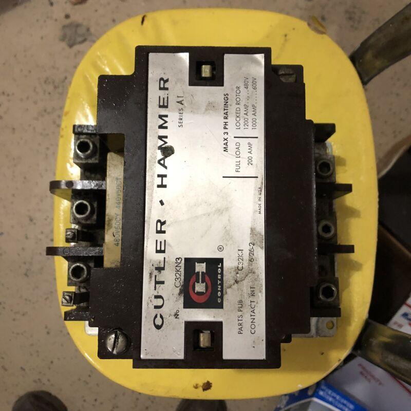 CUTLER HAMMER MOTOR STARTER CONTACTOR C32KN3 200 AMP 600V (408