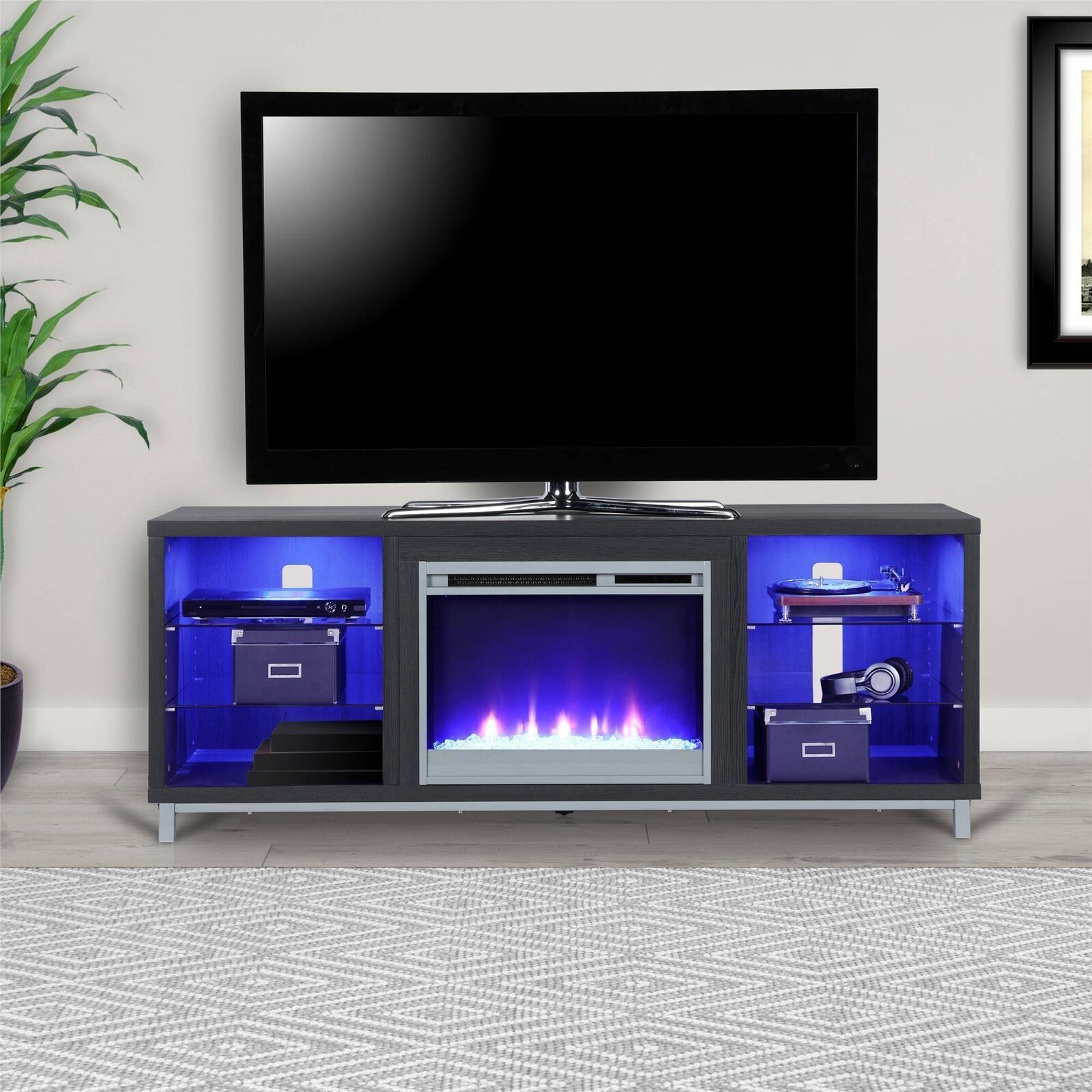 Ameriwood Home Lumina Fireplace TV Stand For TV up To 70""