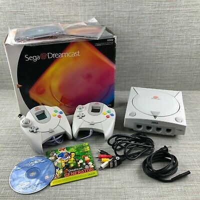 Sega Dreamcast Console (NTSC) System COMPLETE in Box + Extras