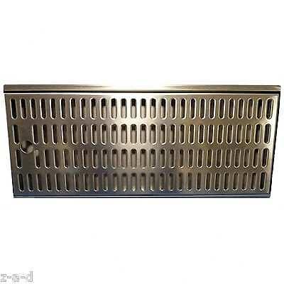 TROPFBLECH / ABTROPFBLECH / TROPFSCHALE EDELSTAHL 440 x 195 x 27 mm