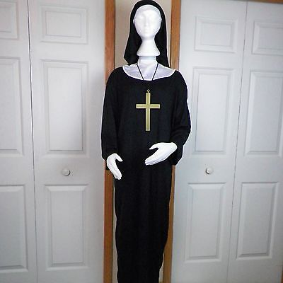 Nun Adult Halloween Costume One Size Unisex Spirit Robe Cross Collar Headpiece ](Nun Head Piece)