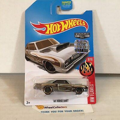 '68 Dodge Dart * ZAMAC edition * 2017 Hot Wheels FACTORY SET * WF17