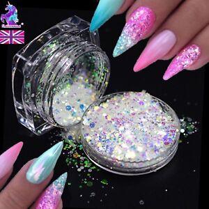 Pixel unicorn aurora effect powder NAIL ART GLITTER AB Mermaid Diamond mix DT-H
