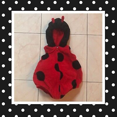 Carter's Red One Piece Ladybug Halloween Costume For Infants 3-6 Months