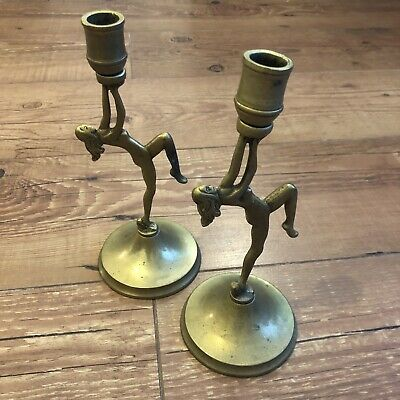 Candle Holders Classic ARTS and CRAFTS ERA Hand Wrought Bronze Swing Hand Made Ivy Leaf Hinged Sconces Pair  One of a Kind