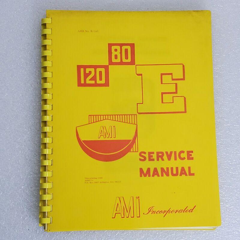 AMI Inc Model E Phonograph Jukebox Service Manual 1988  Original