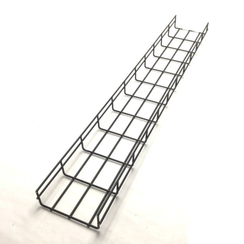 """Hoffman QTP2X6BLK Quick Tray Pro Wire Mesh Cable Tray System, Length: 43.5"""""""