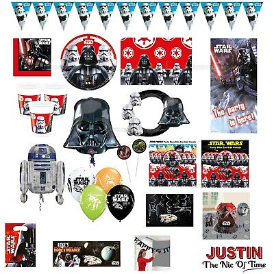 STAR WARS Birthday Party Supplies Boys Range Childrens Tableware & Decorations