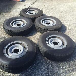 Split Rim Wheels & Tyres for 78 Series Toyota Land Cruiser Wagon Bullaburra Blue Mountains Preview
