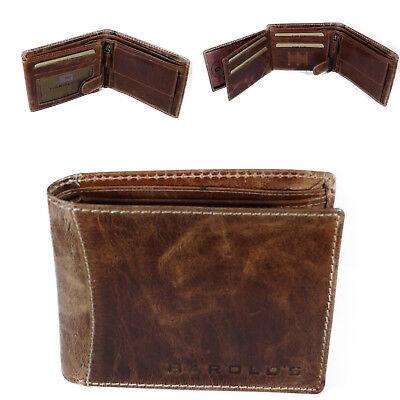 9c89688e3ae74 HAROLDS Herren Leder Portemonnaie Geldbörse Geldbeutel Brieftasche Portmonee  Neu