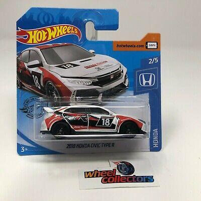SHORT CARD * 2018 Honda Civic Type R * White * 2020 Hot Wheels Case J * JD22