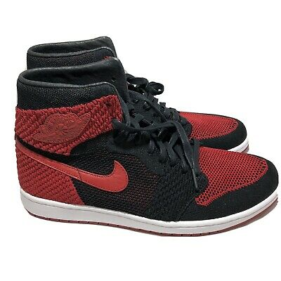 Nike Air Jordan 1 Retro High Flyknit Bred Black/Varsity Red 919704 001 Sz 11.5