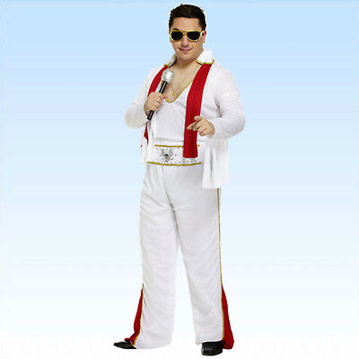 Elviskostüm Gr. XL Kostüm Elvis Sänger Pop King Verkleidung Musik VIP - Sänger Kostüm