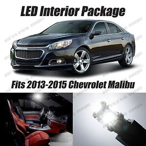 12 Pcs Led White Lights Interior Package Kit For Chevy Malibu 2013 2015