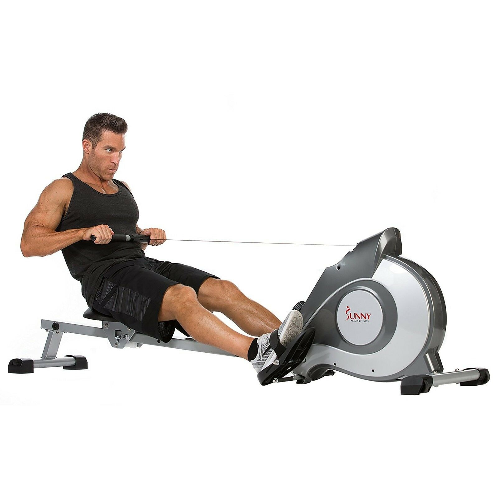 Magnetic Rowing Machine Rower w/ LCD Monitor, Exercise Fitne
