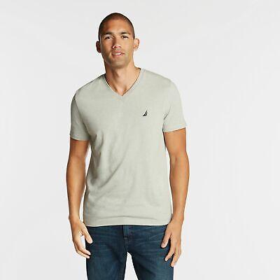 Nautica Mens Heathered V-Neck T-Shirt