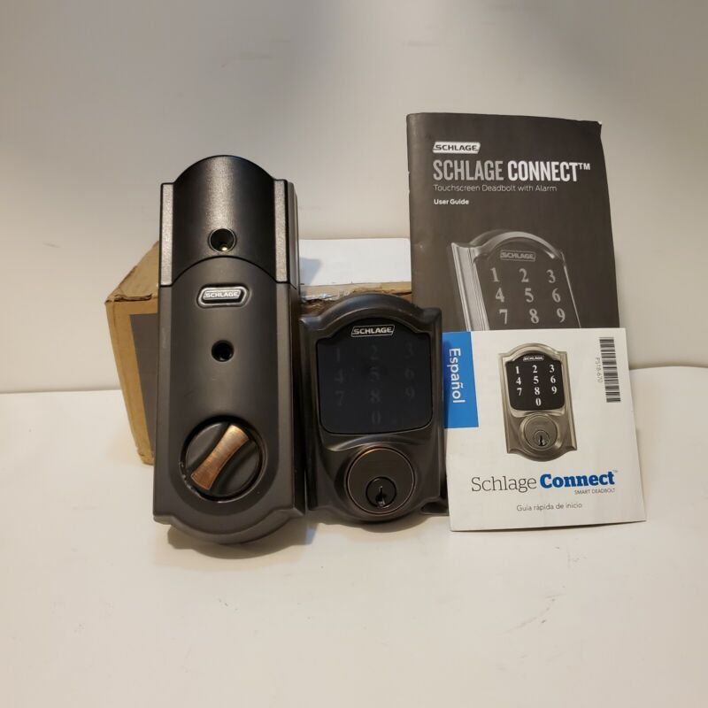Schlage Connect Smart Deadbolt Aged Bronze Open Box FREE SHIPPING