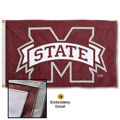 Mississippi State University Embroidered and Appliqued Nylon