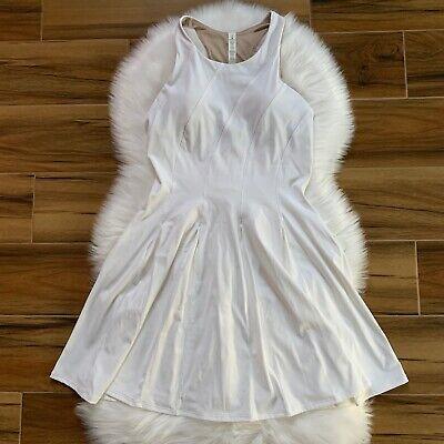 LULULEMON COURT CRUSH TENNIS DRESS, NWT $128, WHITE, 8 SLEEVELESS HOLIDAY SPORT