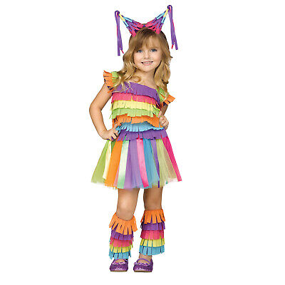 Toddler Rainbow Party Candy Birthday Pinata Halloween Costume Dress Child Girls