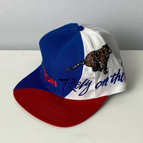 Exon Rely on The Tiger Red White and Blue Snap Back Hat