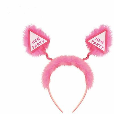 HEN PARTY HEAD BOPPERS GIRLS LADIES NIGHT OUT  DO PINK FLUFFY HEADBAND.