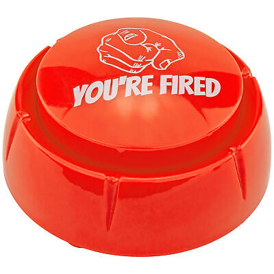 Donald Trump You're Fired Sound Button Desk Gag Novelty Joke White Elephant Gift Greeting Cards & Party Supply