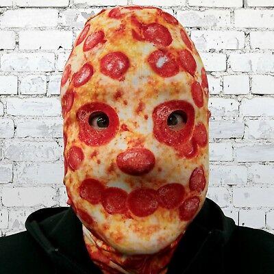 Scary Halloween Face Mask Pizza Face 3D Effect Grim Reaper Fancy Dress Horror