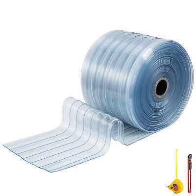 Vevor 100ft Plastic Curtain Jumbo Rolls 12 Commercial Freezer Door Strips Pvc