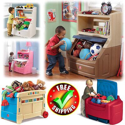- Large Toy Box Storage Chest Bin Bookcase Kid Boy Girl Child Playroom Organizer