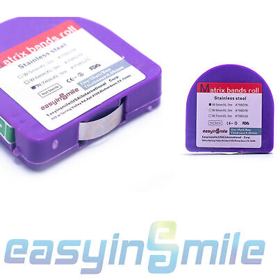 1roll Dental Matrix Bands Light Cured 3 Sizes Stainless Steel Resin Easyinsmile