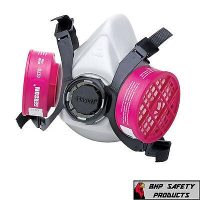 Gerson 9300 Half Mask Reusable Respirator P100 Dust Filter Cartridges Size Large