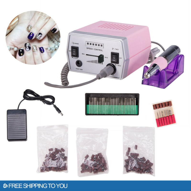 30000 RPM Professional Electric Nail Drill File Bits Machine Manicure Kit