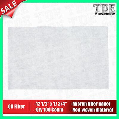 Oil Filtration Filter Paper Fried Food Filter Fryer Filter Qty100 12 12x17 34