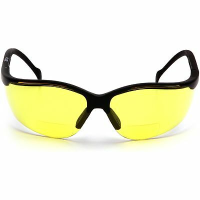 Pyramex Venture Ii Readers Safety Glasses With Amber 1.5 Bifocal Lens
