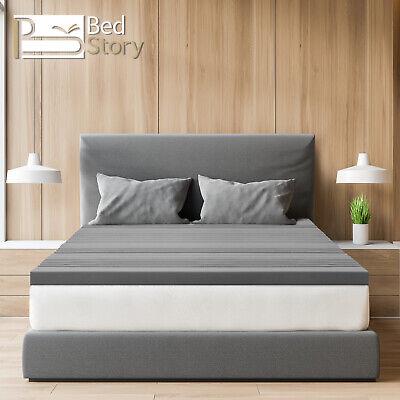 7,6CM Bedstory MatratzenTopper Auflage H3 Bambuskohle-Schaum Gel Topper 90x200cm