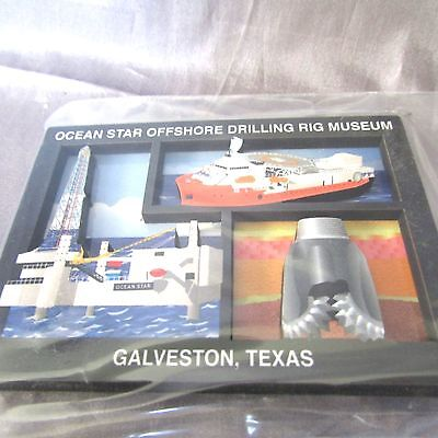 Offshore Star - GALVESTON TEXAS OCEAN STAR OFFSHORE MUSEUM  2-D  MAGNET 2 1/4