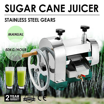 Manual Sugar Cane Press Juicer Juice Machine Commercial Extractor Mill